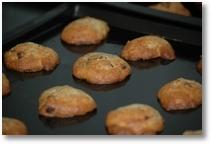 banana and chocolate chip cookies
