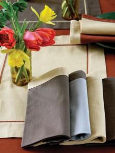 organic napkins from ochre and ochre
