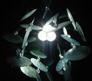 Quanta 9 LED in a decor shade
