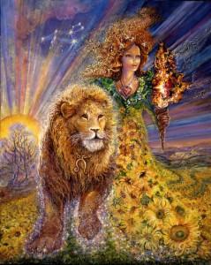 """leo"" by artist Josephine Wall"