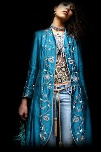 Beatrice von Tresckow designer silk coat