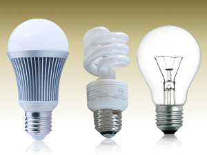 LED incandescent CFL light bulbs