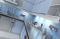 a clean kitchen courtesy of baking soda