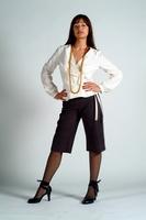 City shorts and long sleeve wrap top by Utani