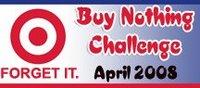 crunchy chicken's Buy Nothing Challenge