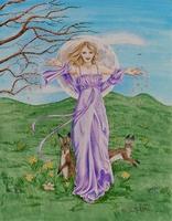 Goddess Ostara by Mickie Mueller - celebrating spring equinox