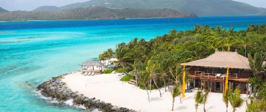richard branson necker island ariel view sustainable