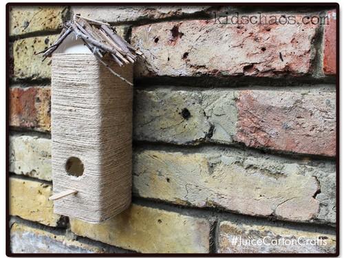 tetra pak bird house