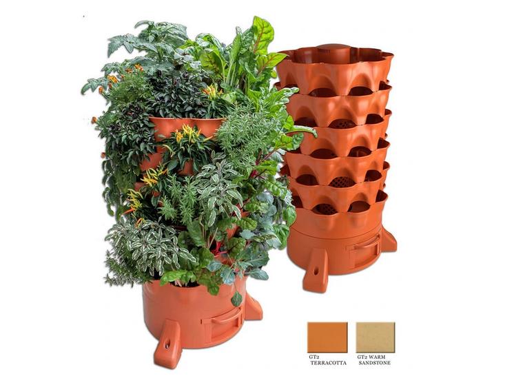 vertical garden planter from garden tower project