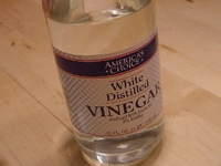 white vinegar - safe for effective cleaning
